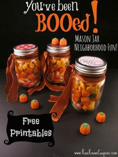 BOO your neighbors with this affordable You've Been BOOed! Mason Jar Neighborhood Fun idea!