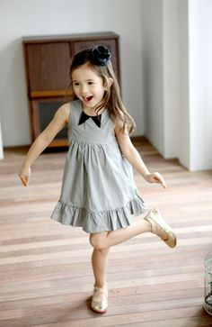 Bow Tie Tank Dress for girls 1-6. Cool kids fashion Color Me WHIMSY.