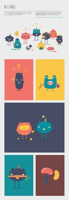 Khandu is a kids-centred card game based on the process of Design Thinking and designed to help kids to solve anything creatively. Monster Illustration, Cute Illustration, Character Illustration, Simple Character, Character Concept, Game Character Design, Web Design, Game Design, Design Thinking
