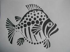 Schablone Fisch3 auf A4