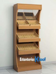 Bakery Display, Wall Shelves Design, Bar Counter, Store Design, Shoe Rack, Dani Hernandez, Marketing, Storage, Wood