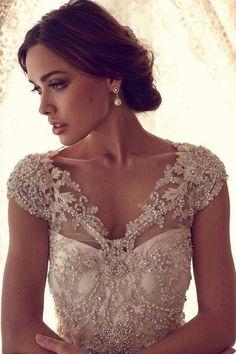 wedding dresses with sleeves cap
