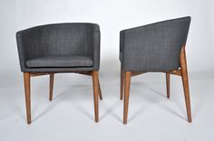 Simple Modern Beverly Navy Blue Dining Chairs