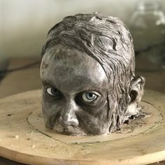 I've had this piece on my work bench for nearly 2 (!) years and I finally finished demolding it. I can't believe the WED sculpture held up… Ceramic Sculpture Figurative, Art Sculpture, Photo Sculpture, Unusual Art, Creepy Art, Art Graphique, Art For Art Sake, Art Plastique, Clay Art