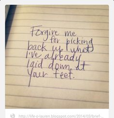GET OUT OF YOUR WAY!  It is hard at times to leave our troubles at the feet of our Heavenly Father.  We keep picking up what we want to let go. Whether it be in our thoughts or actions... We return to the same old habits and people who mean us no good. Do not be as the dog and return to its vomit (Proverbs 26:11; 2 Peter 2:22).