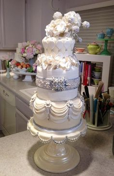 Jeweled Wedding Cake - Tutorial - So Beautiful!