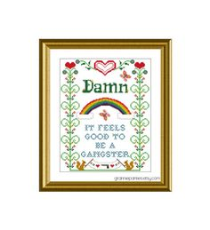 PATTERN ONLY Damn it feels good to be a gangster por granniepanties, $6.00
