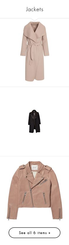 """""""Jackets"""" by zoe-keck ❤ liked on Polyvore featuring outerwear, coats, pink trench coat, tall coats, waterfall coat, woolen coat, pink coat, men's fashion, men's clothing and men's outerwear"""