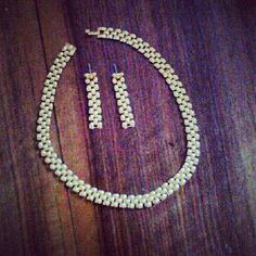 18ct Goldplate Vintage 1980s  Matching Necklace & by LuluBrandy, £25.00
