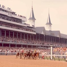"""""""100 days until the Kentucky Derby!  #tbt to 1974 and the 100th running of the #KyDerby."""""""