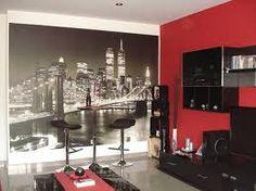 dormitorio rojo negro y blanco - Buscar con Google