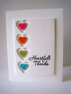 I& in Haven: CAS-ual Fridays for the Pun of it! HA Good Friends stamp set for sentiment, PTI heart die, ek success punch for felt hearts Love Cards, Thank You Cards, Karten Diy, Thanks Card, Heart Cards, Card Making Inspiration, Card Tags, Card Kit, Valentine Day Cards