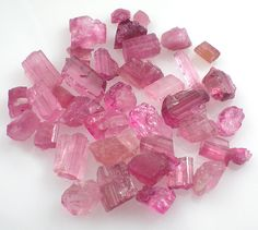 Rubelite Raw Crystals