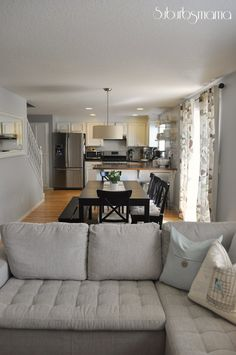 suburbs mama family room small living - Kitchen Dining And Living Room Design