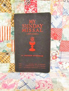 My Daily Missal, Paryers Catholic Church, Daily Mass, Confraternity Version, Latin English Bible, 1940's Father Stedman, Bookmarks by LuckyPennyTrading on Etsy