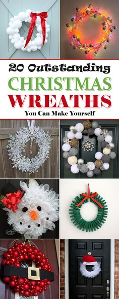 20 Outstanding Christmas Wreaths You Can Make Yourself