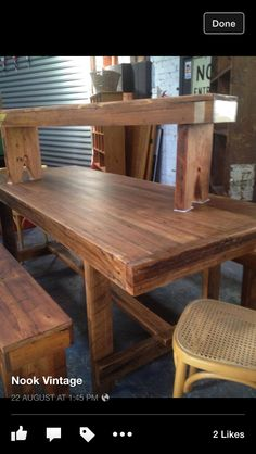 Table ❤️ Dining Bench, Rustic, Inspiration, Furniture, Home Decor, Country Primitive, Biblical Inspiration, Decoration Home, Table Bench