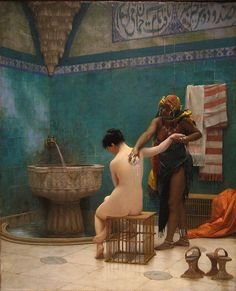 The Bath - Jean Leon Gerome. 1880. Upper right. have this in poster form from nsw art gallery exhibition