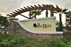 New Homes in Clay County, FL - Pine Ridge Community Entrance Entrance Signage, Exterior Signage, Outdoor Signage, Entrance Design, Entrance Gates, Gate Design, Monument Signage, Kb Homes, Church Design