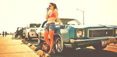 Summer Time #classic #car #girl #summer