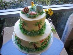 BUTTER CREAM BABYSHOWWER CAKES | Jungle Safari baby shower cake | Flickr - Photo Sharing!