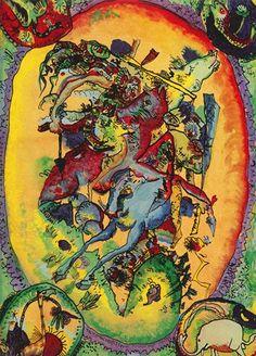 Cavaliere dell'Apocalisse II - 1914 - Kandinsky Vassili - Opere d'Arte su Tela - Listino prodotti - Digitalpix - Canvas - Art - Artist - Painting
