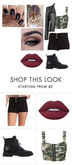 """""""Untitled #1775"""" by hey-mate ❤ liked on Polyvore featuring Charlotte Russe, Lime Crime, Giuseppe Zanotti and Boohoo"""