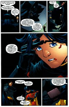 Tim Drake attempts to celebrate Father's Day with Bruce Wayne 8/9