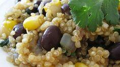 Quinoa and Black Beans Recipe. This mixture of quinoa, black beans, corn, and spices will make this dish a new favorite. Veggie Recipes, New Recipes, Dinner Recipes, Cooking Recipes, Recipies, Dinner Ideas, Potluck Ideas, Favorite Recipes, Lunch Recipes
