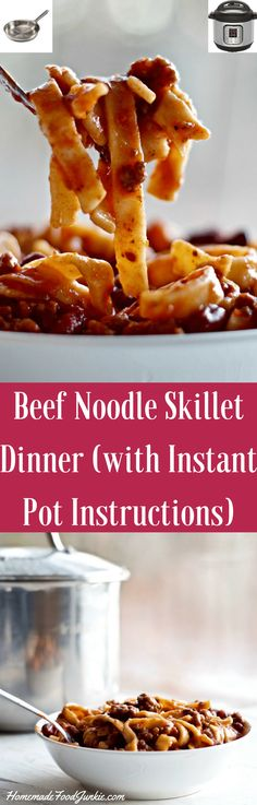 Beef Noodle Skillet Dinner (with Instant Pot Instructions) easy to make this favorite family weeknight dinner