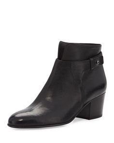 Harriet+Leather+Ankle+Boot,+Black+by+Vince+at+Neiman+Marcus.