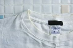 """すぐに役立つ洗濯テク!""""白Tシャツの黄ばみ""""の落とし方 - レタスクラブニュース"""
