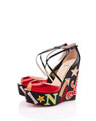 Christian Labouiton - Loubi Zeppa 140mm - Decorative Applique on Shoes