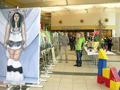 UW-Fond du Lac Art Students League Art Momentum Show 2013 in the University Center Commons.