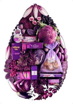 Purple Food Art