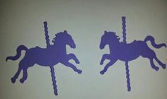 Carousel Horse Confetti75 pieces by CassCouture12 on Etsy, $4.25