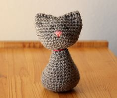 One of the things my little niece loves about visiting my house is my cats. So, I thought for her birthday I'd make her a kitty. I love being able to translate the lines of a thing into crochet and...