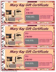 certificat cadeau mary kay gratuit a imprimer - Recherche Google