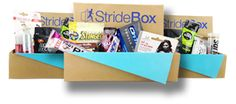 Stridebox monthly giftbox for runners