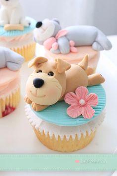 Cute little Puppy Cupcakes #babyshower #christening #firstbirthday