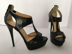 decolte scarpe donna tronchetto stivali marco 36 37 38 39 40 nero tacco 12