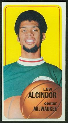 Lew Alcindor. The player that would later rename himself Kareem Abdul-Jabbar.   1970-71 Topps Basketball Cards Set checklist, prices, values ...