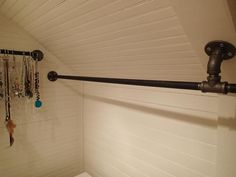 custom closet rods charming closet rods and brackets custom size nickel hanging closet charming closet rods and brackets sloped ceiling closet rod bracket 2 closet rod brackets angled ceiling charming Attic Wardrobe, Attic Closet, Closet Rod, Closet Bedroom, Attic Office, Upstairs Bedroom, Slanted Ceiling Closet, Sloped Ceiling, Slanted Walls