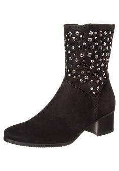 Gabor - Korte laarzen - Zwart Hak 4,5 cm €155
