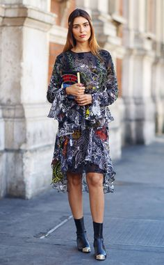 Lise Grendene from Street Style at London Fashion Week Spring 2016