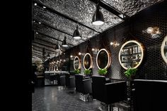 designwire creates a moody punk inspired interior for barber shop in wuxi, china