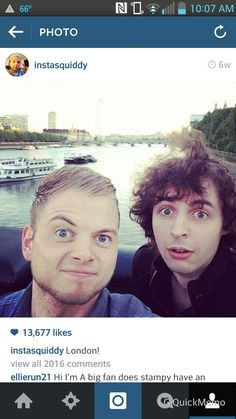 Squid and stampy in london.