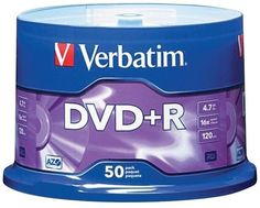 verbatim - 4.7gb dvd+rs (50-ct spindle)