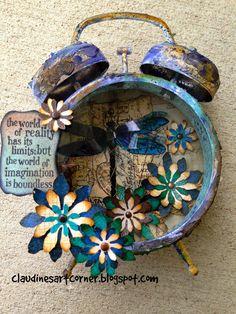 Claudine's Art Corner: Assemblage Clock - Compendium of Curiosities Challenge 10