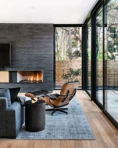 Best Ideas Fireplace Decorating Ideas - Best Home Ideas and Inspiration modern fireplace, black shiplap fireplace in modern living room 45 Best Modern Touch for Your Interior Home Decor Cozy Fireplace, Fireplace Design, Shiplap Fireplace, Fireplace Ideas, Fireplace Pictures, Black Fireplace, Modern House Design, Modern Interior Design, Modern Decor